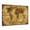 Bilderdepot24 Retro World Map II Framed Photographic Print on Canvas