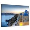 Bilderdepot24 Santorini Framed Photographic Print on Canvas