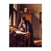 Bilderdepot24 'The Geographer' by Jan Vermeer Framed Oil Painting Print on Canvas