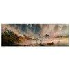 Bilderdepot24 'The Morning' by Caspar David Friedrich Framed Oil Painting Print on Canvas