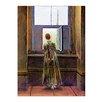 Bilderdepot24 'Woman at the Window' by Caspar David Friedrich Framed Oil Painting Print on Canvas
