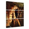 Bilderdepot24 'The Bookworm' by Carl Spitzweg 3 Piece Painting Print Set on Canvas