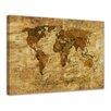 Bilderdepot24 Retro World Map II Framed Painting Print
