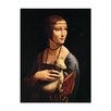 Bilderdepot24 'The Lady with an Ermine' by Da Vinci Framed Oil Painting Print on Canvas