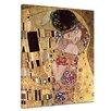 """Bilderdepot24 Gerahmtes Leinwandbild """"""""Alte Meister Der Kuss"""""""" von Gustav Klimt, Kunstdruck"""