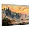 Bilderdepot24 'The Morning' by Casper David Friedrich Framed Oil Painting Print on Canvas