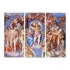 Bilderdepot24 'Last Judgment' by Michelangelo 3 Piece Painting Print Set on Canvas