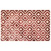 Rug Expressions Dip-Dye Hand-Tufted Red Area Rug