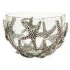 Mud Pie™ Starfish Bubble Glass 2 Piece Serving Bowl