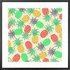 Monde Mosaic Pineapple Pandemonium by Lisa Argyropoulos Framed Art Print