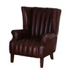 Hazelwood Home Aviator High Back Leather Armchair