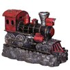 Hazelwood Home Polyresin Steam Train Water Feature Fountain with Light