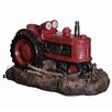 Hazelwood Home Polyresin Tractor Water Feature Fountain with Light