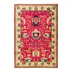 Darya Rugs Eclectic Vivid Hand-Knotted Pink Area Rug