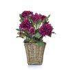 Castleton Home Rattan Dahlia Floral Arrangements in Planter