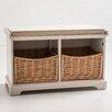 Maine Furniture Co. Newport 2 Basket Storage Hallway Bench