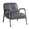 Hazelwood Home Aviator Leather Armchair with Iron Frame