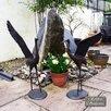 Caracella 2 Piece Cranes Aluminium Statue Set