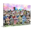 Marmont Hill 'Row Houses' Painting Print on Wrapped Canvas