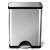 simplehuman Step-On Stainless Steel 13 Gallon Trash Can
