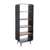 Château Chic Industrial Bookcase with 4 Shelves