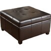 NobleHouse Rica Leather Storage Ottoman