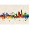dCor design 'London City Skyline' Watercolour Painting Print