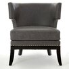 Castleton Home Kensington Townhouse Leather Tub Chair