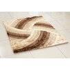 Hazelwood Home 3D Whisper Spin Hand-Tufted Gold Area Rug