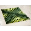 Hazelwood Home 3D Whisper Cross Hand-Tufted Green Area Rug