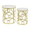 Three Hands Co. Metal 2 Piece Nesting Tables
