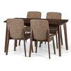 ScanMod Design Essgruppe Tahquitz mit ausziehbarem Tisch und 4 Stühlen