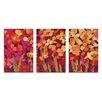 Artist Lane 'Summer Blooms' 3 Piece Painting Print Set on Canvas
