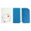 "R&R Textile Mills Inc Personalized ""Circle Design with Heart"" Dishcloth"