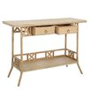Château Chic Rattan Console Table with 2 Drawers