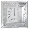 All Home Floating Crystal Bevelled Mirror Wall Clock