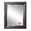 Astoria Grand Rectangle Dark Mahogany Beveled Wall Mirror