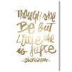 Oliver Gal 'But Little' Textual Art on Canvas