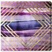 Oliver Gal 'Rombo Numero 4 Amethyst' Wall Art on Canvas
