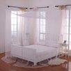 Willa Arlo Interiors Harrelson 4-Post Bed Sheer Panel Canopy Net