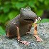 Timber Bay Home & Garden Freddie the Fly Catching Frog Garden Art