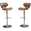 Wade Logan Harlow Adjustable Height Swivel Bar Stool (Set of 2)