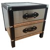 All Home Luggage Side Table with Storage