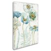 Trademark Fine Art 'My Greenhouse Flowers I Crop on Wood' Print on Wrapped Canvas