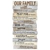 Andover Mills Our Family Will Stacked Wood Word Study Wall Décor