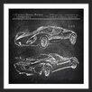 Marmont Hill 'Ferrari Design' Framed Graphic Art Print