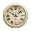Lily Manor Baume 36cm Round Wood Wall Clock