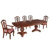 Wildon Home Marsais Mahogany Dining Set with 6 Chairs