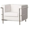 Wade Logan Kael Contemporary Mid-Back Lounge Chair with Encasing Frame Guest Chair