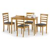 All Home Cleo Dining Set with 4 Chairs